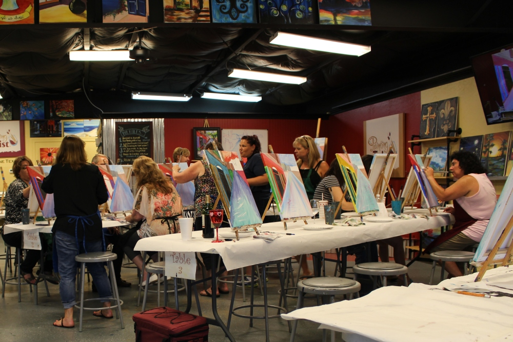 Painting with a twist information painting sessions for Painting with a twist lewisville tx