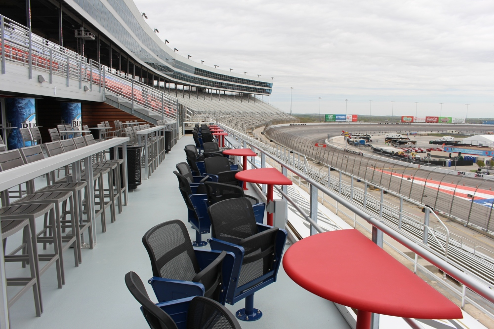 New Busch Restart Bar Provides Level-Up Trackside Seating